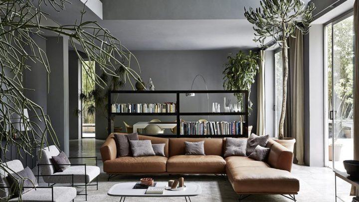 Moderne sedežne garniture predstavljajo udobje in se zlivajo s prostorom